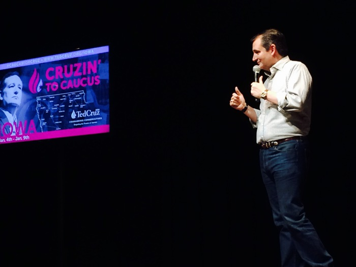 Cruz on stage
