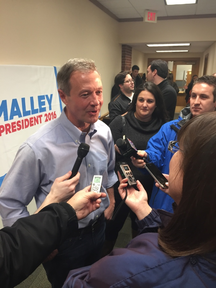 O'Malley fights to stay above water in Iowa a month before caucus day